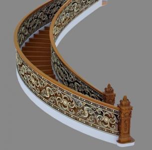 Cầu thang hợp kim nhôm đúc CT12TG